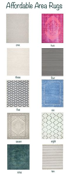 Affordable Area Rugs - Claire Brody Designs