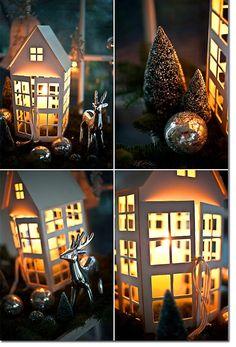 Bei Tag und bei Nacht mit Türchen N° 8 – ein DIY von Karin | Les Tissus Colbert repinned by www.landfrauenverband-wh.de #landfrauen #landfrauen wü-ho tolle Idee so ein Lichterhaus!