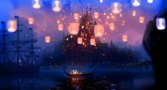 This is my favorite part of the movie, this has added going to the Thai lights festival to my bucket list :)