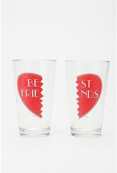 Best Friends Pint set. Only to be used with very special people. Urban Outfitters.