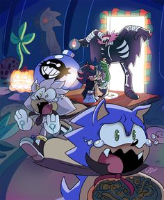 """(/\*Shadow , sonic , silver and eggy man Shadow's got the face of: """"Dude, I just came for the candy, you gonna give it to me or not? Sonic The Hedgehog, Hedgehog Art, Silver The Hedgehog, Shadow The Hedgehog, Blaze The Cat, Sonic Funny, Pokemon, Sonic Mania, Cartoon As Anime"""