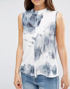b.Young | b.Young High Neck Tie Dye Top