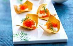 Sprøde pastaskaller med flyvefiskerogn