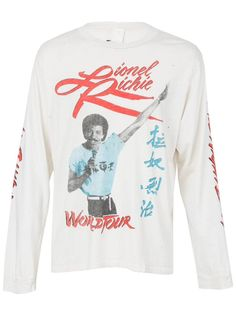 Lionel Richie Hello Pic 2013 Tour Adult White T Shirt New Official