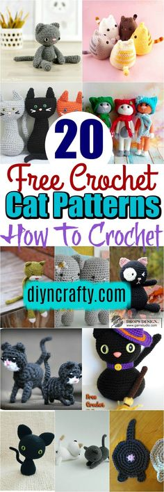 20 Free #Crochet Cat Patterns - How To Crochet:if you are good at crocheting then here is a big list of free crochet cat patterns for you. This gallery will give you the perfect cat amigurumi and plushie.