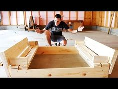 HOW TO BUILD A SANDBOX WITH BENCH SEATS #DIY - YouTube
