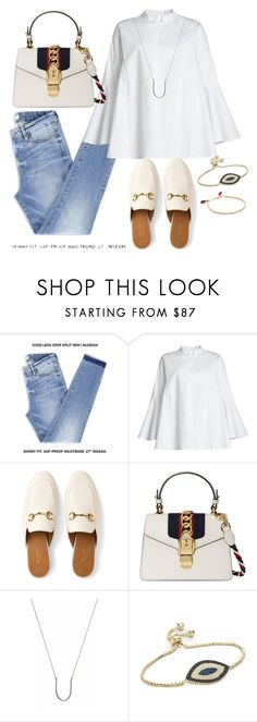 """Untitled #374"" by brave-women ❤ liked on Polyvore featuring William Fan, Gucci, Brash Bijoux and Shashi"