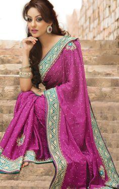 1e1e055b33b3 Magenta Color Indian Saree With Blouse (VIG1220) - OnlineDesignerStore.com