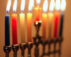 The warm glow of the Hanukkah candles is very comforting.  From  Eatsy: A French Hanukkah | The Etsy Blog