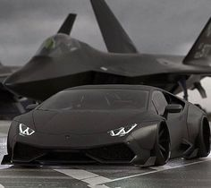 Lamborghini Noire Blinde Avion Furtif Amricain F 35 The Luxury Sports Cars, Top Luxury Cars, Carros Lamborghini, Lamborghini Cars, Ferrari, Maserati, Audi Autos, Stealth Aircraft, Black Armor