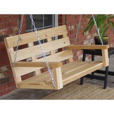 Garden Furniture Design, Diy Furniture Decor, Pallet Garden Furniture, Outdoor Furniture Plans, Geek Furniture, Furniture Arrangement, Antique Furniture, Porch Swing Frame, Porch Swing With Stand