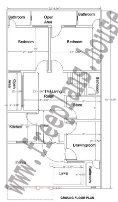32x62 Feet Ground Floor Plan,. Home PlansSquare ... Part 81