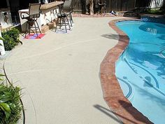 Smooth, Bone  Concrete Pool Decks  Surfacing Solutions  Temecula, CA