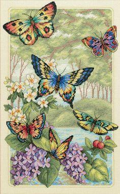Butterfly Forest - Cross Stitch Kit