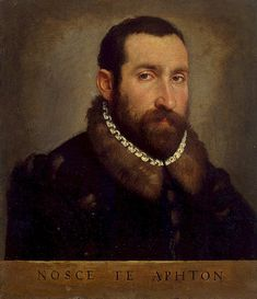 Giovanni Battista Moroni, c1565(?): Portrait of a Man in the collection at St. Petersburg, The Hermitage