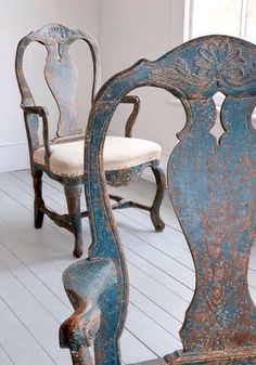 I LOVE THESE CHAIRS WITH OLD WHITE TABLE TEA STAIN TOP Furniture