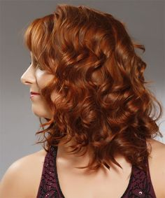 Medium Curly Formal Hairstyle - Medium Red (Copper) | TheHairStyler.com