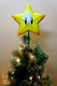 Paperkraft.net - Free Papercraft, Paper Model, & Papertoy: Super Star Christmas Tree Topper Papercraft
