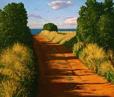 "Paul Hannon - ""Road to the Sea""; 17 x 20 stretched canvas print"