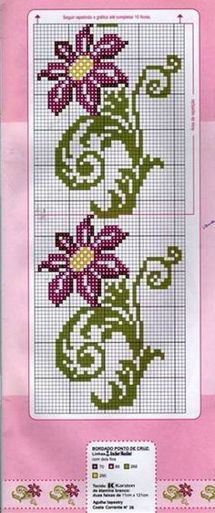 This Pin was discovered by Işı Cross Stitch Bookmarks, Cross Stitch Borders, Cross Stitch Alphabet, Cross Stitch Flowers, Cross Stitch Designs, Cross Stitching, Cross Stitch Embroidery, Cross Stitch Patterns, Embroidery Patterns Free