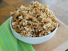 Carmel almond popcorn