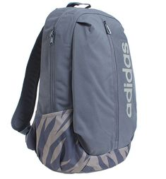 357aeacc0c44d adidas Logo Zipper Backpack Back to School Outdoor Running Sport Bag Gray  CF6844