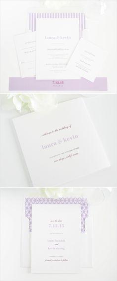 Modern elegance wedding invitations. #stationery #wedding #invitations #purple Shop: Shine Wedding Invitations http://www.shineweddinginvitations.com/wedding-invitations/modern-elegance-wedding-invitations