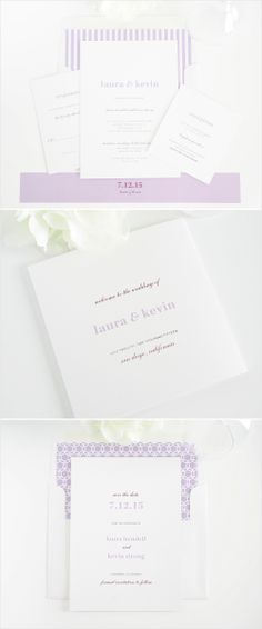 Modern elegance wedding invitations. #stationery #wedding #invitations #purple Shop: Shine Wedding Invitations http://www.shineweddinginvitations.com/wedding-invitations/modern-elegance-wedding-invitations