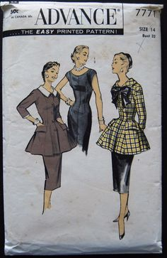Advance 50's Dinner Dress-Tunic Pattern No. 7771.jpg