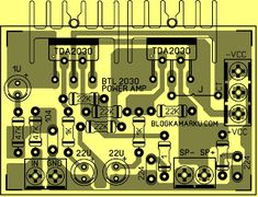 PCB Power BTL TDA 2030 agar Power Lebih  Nendang Diy Amplifier, Electronic Circuit Projects, Electronic Schematics, Hifi Stereo, Circuit Design, Susa, Circuit Diagram, Circuit Board, Audio System