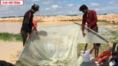 Cast Net Fishing   Net Fishing At Pailin Province In Cambodia - Very Eas...