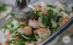 Fish And Seafood, Fresh Rolls, Sprouts, Potato Salad, Spinach, Shrimp, Salads, Recipies, Potatoes