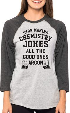 Gray Smoke 'Stop Making Chemistry Jokes' Raglan Tee - Plus Too