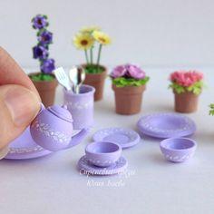 Чайку? Dollhouseminiatures. Tea. Teapot. Polimerclay. Miniature.