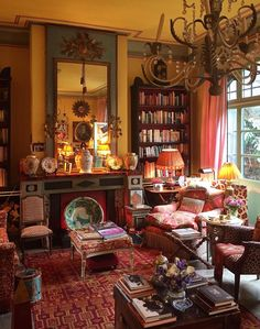 59 trendy home library luxury English Country Decor, Moroccan Interiors, Cottage Interiors, French Cottage, Trendy Home, Boho Decor, Decoration, Interior Inspiration, Living Room Decor