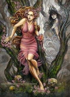 Persephone and Hades by BohemianWeasel.deviantart.com on @deviantART