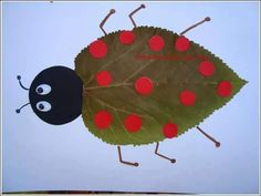 ideas easy nature crafts for kids leaves Kids Crafts, Leaf Crafts, Fall Crafts For Kids, Craft Stick Crafts, Preschool Crafts, Diy For Kids, Diy And Crafts, Arts And Crafts, Autumn Crafts