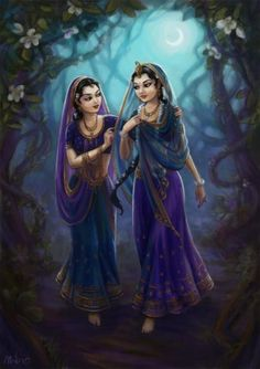 The Asta Sakhis- Lalita, with Radha