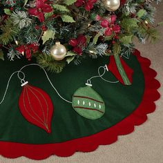 Ornaments Felt Christmas Tree Skirt