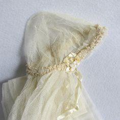 Antique c1920s Juliet Cap  Wedding Veil Bridal Accessory, Gatsby, Art Deco