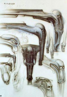 H.R. Giger #giger #hrgiger #alien #xenomorph #biomechanoid