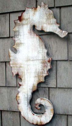 Caballito de Mar en cilueta madera