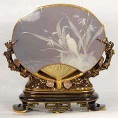 Mintons Pate Sur Pate shell fan vase by Thomas Mellor. http://www.ebay.com/itm/Marvelous-Mintons-Pate-Sur-Pate-shell-fan-vase-by-Thomas-Mellor-/281605413513?&_trksid=p2056016.m2518.l4276