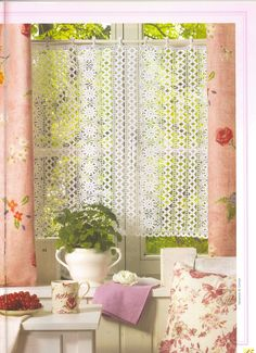 It's simple, free and blazing fast! Crochet Curtain Pattern, Crochet Curtains, Curtain Patterns, Crochet Lace, Doilies, Valance, Window Treatments, Free Pattern, Projects To Try