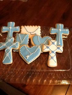 Baptism cookies by ...Lisa Degirolamo-Centeno