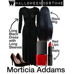 A Halloween Costume how-to inspired by Anjelica Huston as Morticia Addams in 1991's The Addams Family & in 1993's Addams Family Values.
