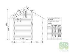 SAUNA - 14,89m2 Line Chart, Beams, House, Home, Haus, Houses, Homes