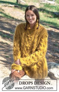 Ravelry: Pullover in Vienna and Alaska pattern by DROPS design Knitted Cape Pattern, Jumper Knitting Pattern, Cardigan Pattern, Baby Knitting Patterns, Free Knitting, Crochet Patterns, Drops Design, Garnstudio Drops, Magazine Drops