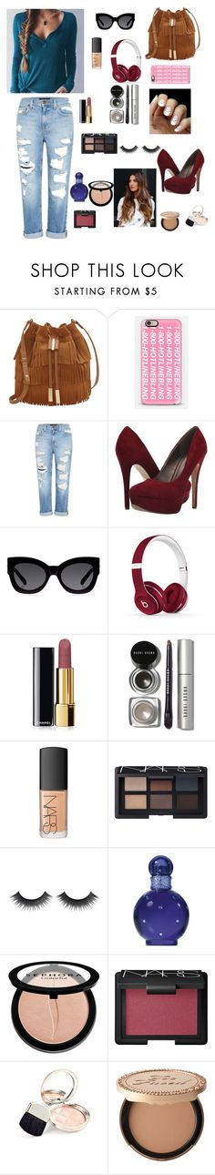 Day out on the town by gabriellaallen on Polyvore featuring Genetic Denim, Michael Antonio, Vince Camuto, Casetify, Karen Walker, Bobbi Brown Cosmetics, NARS Cosmetics, Sephora Collection, Chanel and Too Faced Cosmetics