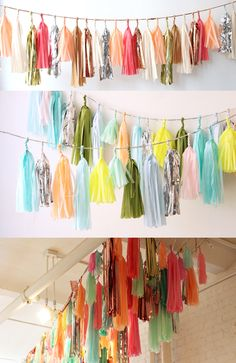 I am obsessed with these gorgeous garlands! I need to make some for Christmas or throw a party.